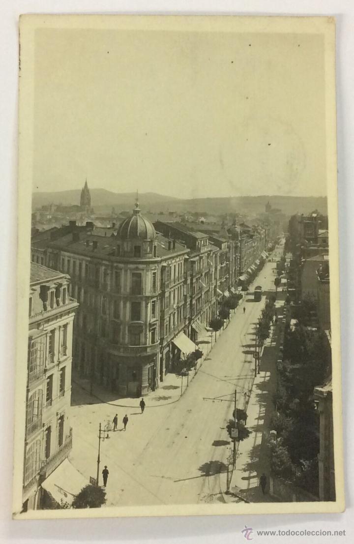 OVIEDO. CALLE DE URIA. POSTAL FOTOGRÁFICA (CELESTINO COLLADA). CIRCULADA EN 1924. (Postales - España - Asturias Antigua (hasta 1.939))