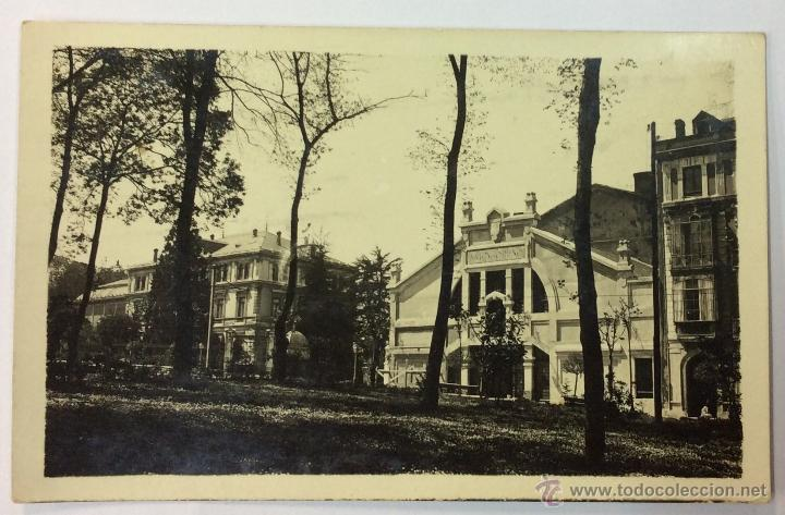 OVIEDO. SALON TORENO. POSTAL FOTOGRÁFICA (CELESTINO COLLADA). CIRCULADA EN 1924. (Postales - España - Asturias Antigua (hasta 1.939))