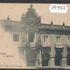 Postales: OVIEDO - EL HOSPICIO - REVERSO SIN DIVIDIR - HAUSER Y MENET - (39952). Lote 53734227