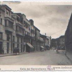 Postales: POSTAL AVILES CALLE DEL GENERALISIMO FRANCO ASTURIAS ED. NUÑEZ N0 9. Lote 54065544