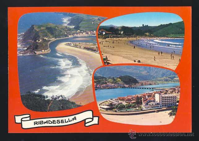POSTAL DE RIBADESELLA: 3 VISTAS (ED. ALARDE 12) (Postales - España - Asturias Moderna (desde 1.940))