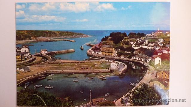 LUARCA. PUERTO Y VISTA PARCIAL. ED. ARBESU. (Postales - España - Asturias Moderna (desde 1.940))