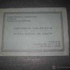 Postales: JUNTA LOCAL DE GIJON - VERANEANDO EN GIJON- CARPETA ACORDEON - NO POSTAL - MIDEN 8,5X12 CM- (V-4478). Lote 54541105