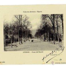 Postales: PS5719 OVIEDO 'PASEO DEL BOMBÉ'. COLECCIÓN ARTÍSTICA - ESPAÑA. CIRCULADA EN 1909. Lote 48276070