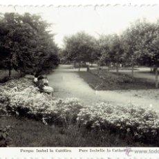 Postales: PS5171 GIJÓN 'PARQUE ISABEL LA CATÓLICA'. L. ROISIN. CIRCULADA EN 1957. Lote 46070881