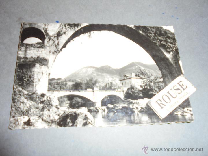 6 .- CANGAS DE ONIS - ( ASTURIAS ) PUENTE ROMANO . PAISAJE EDC. GARCIA GARRABELLA - 14X9 CM. CIRCULA (Postales - España - Asturias Moderna (desde 1.940))