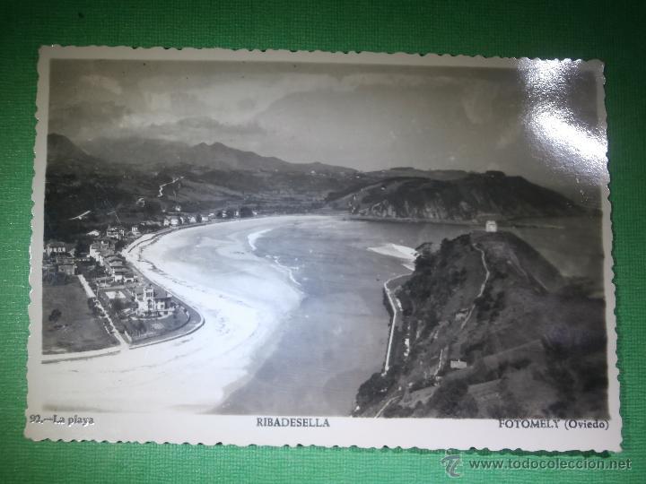 POSTAL - ESPAÑA - ASTURIAS - RIBADESELLA - 92 - LA PLAYA - FOTOMELY, OVIEDO - NUEVA - (Postales - España - Asturias Moderna (desde 1.940))