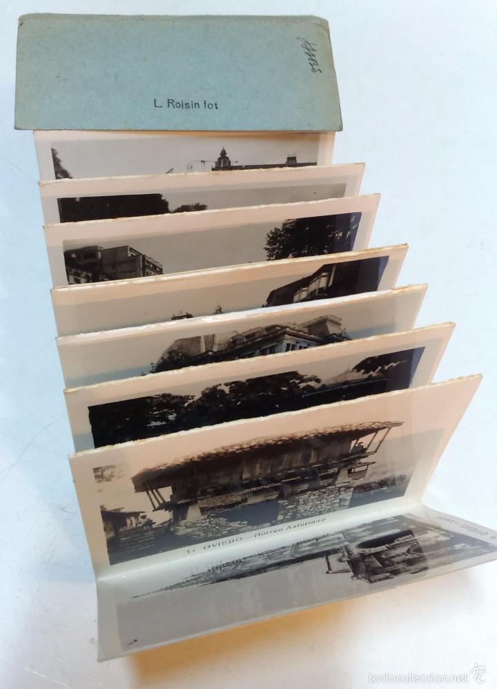 Postales: OVIEDO. ALBUM 16 VISTAS ACORDEON. L. ROISIN. - Foto 2 - 55349176