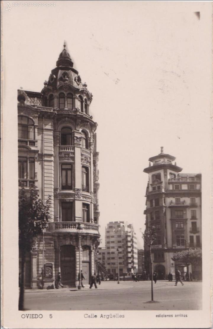 P- 4880. POSTAL OVIEDO. CALLE ARGÜELLES. ED. ARRIBAS Nº 5. (Postales - España - Asturias Moderna (desde 1.940))