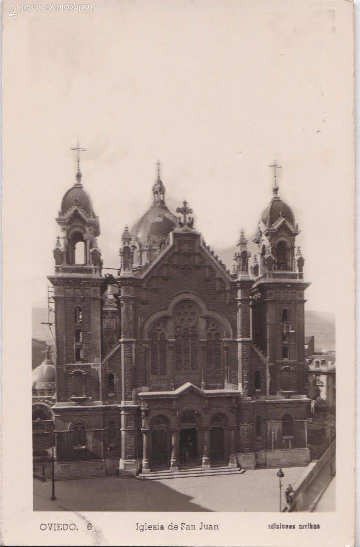 P- 4881. POSTAL OVIEDO. IGLESIA DE SAN JUAN. ED. ARRIBAS Nº 6. (Postales - España - Asturias Moderna (desde 1.940))