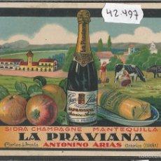 Postales: CORIAS DE PRAVIA - LA PRAVIANA- PUBLICIDAD - ANTONINO ARIAS -SIDRA -MANTEQUILLA - (42.497). Lote 56128917