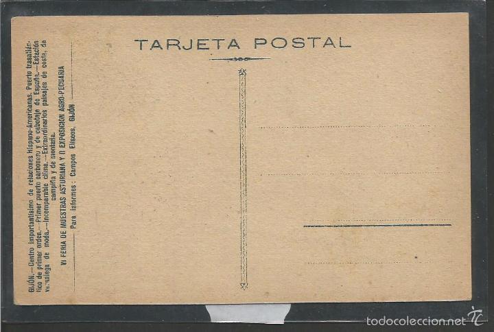 Postales: GIJON - FERIA DE MUESTRAS ASTURIANA - 1929 - PUBLICIDAD - (42.499) - Foto 2 - 56128970