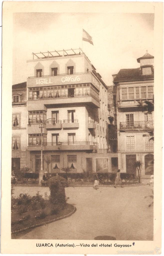 LUARCA ASTURIAS VISTA DEL HOTEL GAYOSO (Postales - España - Asturias Moderna (desde 1.940))
