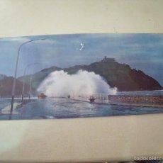Postales: SAN SEBASTIAN TEMPORAL EN EL CANTABRICO. Lote 56281138