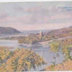 Postales: P- 5140. POSTAL ILUSTRACION CASTILLO DE SAN MARTIN, ASTURIAS. THOMAS.. Lote 56433440