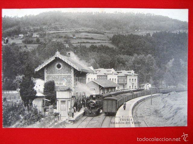 TRUBIA - ESTACIÓN DEL VASCO - ASTURIAS NT-401 (Postales - España - Asturias Antigua (hasta 1.939))
