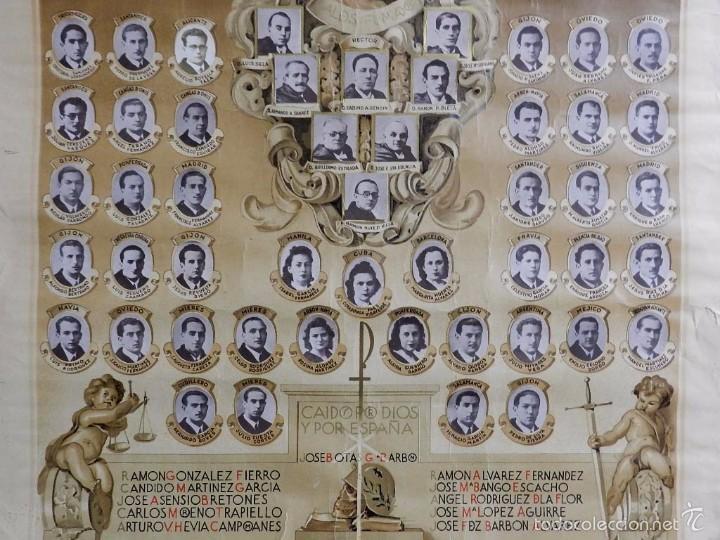 Postales: ANTIGUA Y EXCEPCIONAL ORLA FACULTAD DERECHO DE OVIEDO, MENCION A LOS CAIDOS EN LA GUERRA CIVIL, POR - Foto 3 - 57484181