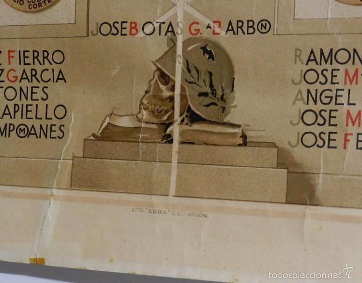 Postales: ANTIGUA Y EXCEPCIONAL ORLA FACULTAD DERECHO DE OVIEDO, MENCION A LOS CAIDOS EN LA GUERRA CIVIL, POR - Foto 4 - 57484181