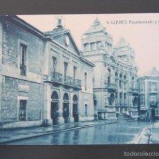 Postales: POSTAL LLANES. AYUNTAMIENTO Y CASINO. . Lote 57658316