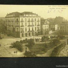 Postales: POSTAL GIJÓN HOTEL IBERIA 1966 HAUSER Y MENET OVIEDO 1907. Lote 57678063