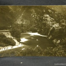 Postales: FOTO POSTAL DESCENSO RIO SELLA ASTURIAS PIRAGUISMO 12 AÑOS 50-60 EDICIONES ARIGOT. Lote 57700627