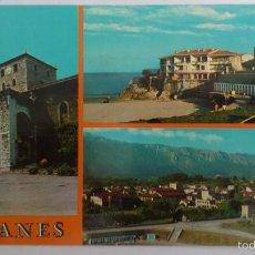 Postales: POSTAL LLANES - BASILICA MENOR, VISTAS PARCIALES, CIRCULADA. Lote 58004047