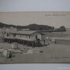 Postales: POSTAL ANTIGUA - SALINAS. BALNEARIO DE LA PLAYA. Lote 58219374