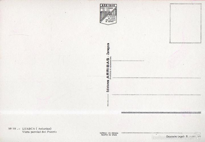 Postales: VESIV POSTAL LUARCA Nº18 VISTA PARCIAL DEL PUERTO - Foto 2 - 58534214