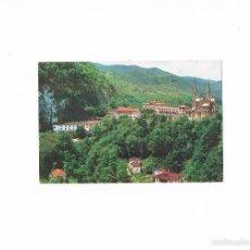 Postales: POSTAL ANTIGUA ASTURIAS SIN CIRCULAR COVADONGA PANORAMICA DEL SANTUARIO. Lote 58700120