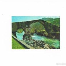 Postales: POSTAL ANTIGUA ASTURIAS CIRCULADA CANGAS DE ONIS PUENTE ROMANO. Lote 58701349