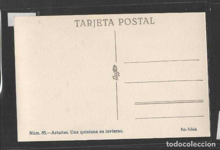 Postales: ASTURIAS - 85 - UNA QUINTANA EN INVIERNO -FOTOGRAFICA COLLADO - VER REVERSO - (44.646) - Foto 2 - 62015588