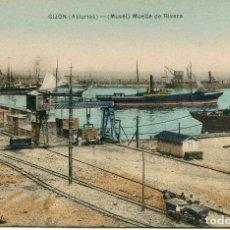 Postales: GIJON - MUSEL MUELLE DE RIVERA. Lote 62691852