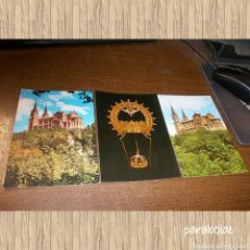 Postales: LOTE 3 POSTALES COVADONGA, DOS SIN CIRCULAR: CATEDRAL Y ABSIDE, CORONA DE LA VIRGEN, LA BASÍLICA. Lote 64887678