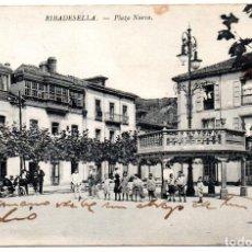 Postales: PS7001 RIBADESELLA 'PLAZA NUEVA'. G. CARBAJAL. CIRCULADA. 1914. Lote 66583682