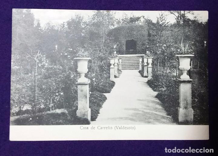POSTAL DE VALDESOTO (ASTURIAS). CASA DE CARREÑO. 1910 - 1920. (Postales - España - Asturias Antigua (hasta 1.939))