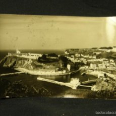 Postales: POSTAL FOTOGRÁFICA LUARCA ASTURIAS ENTRADA AL PUESTO ED. GÓMEZ CIRCULADA. Lote 67591265