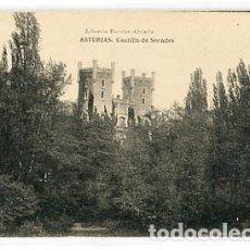 Postales: ASTURIAS CALDAS DE OVIEDO CASTILLO DE SECADES ED. LIBRERIA ESCOLAR FOTOTIPIA HAUSER Y MENET. Lote 70257493
