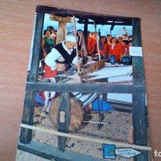 Postales: TEJEDORA DE MANTAS TIPICAS - MUSEO DEL PUEBLO (GIJON) - MANTES PA LOS PAYARIEGOS - SIN CIRCULAR. Lote 71833955