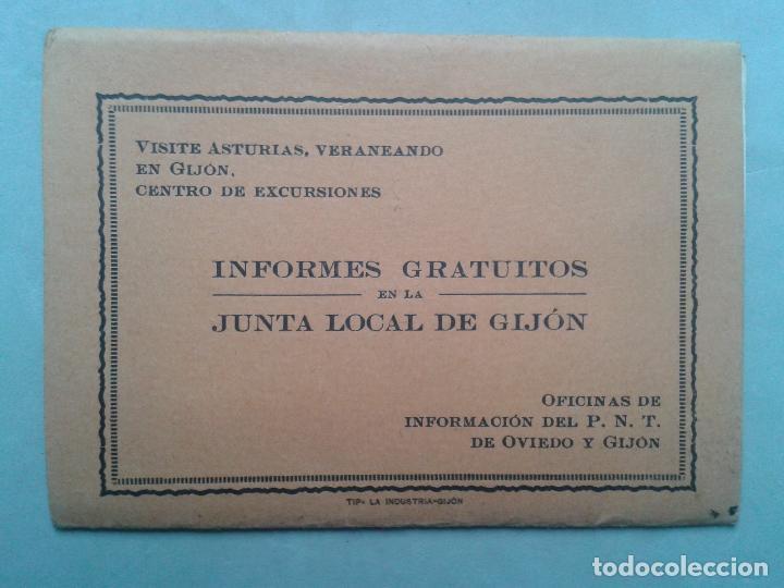 Postales: Estuche Desplegable Tipo Fuelle de 12 vistas antiguas de Gijón. - Foto 2 - 73312643