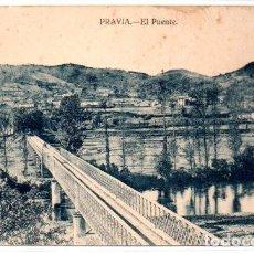 Cartes Postales: TARJETA POSTAL, ASTURIAS ,PRAVIA,EL PUENTE, EDICION VARELA.. Lote 73532515