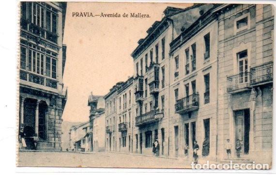 TARJETA POSTAL, ASTURIAS ,PRAVIA,AVENIDA DE MALLERA, EDICION VARELA. (Postales - España - Asturias Antigua (hasta 1.939))