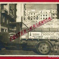 Cartoline: POSTAL CAMION SIDRA ZARRACINA , GIJON, FOTOGRAFICA VALENCIA CALLE SANCHIS SIVERA , ORIGINAL ,P86302. Lote 73570023