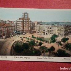 Postales: POSTAL - ESPAÑA - ASTURIAS - GIJÓN - 21.- PLAZA DE SAN MIGUEL - L. ROISIN - NE - NC. Lote 74991643