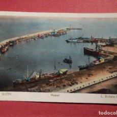 Postales: POSTAL - ESPAÑA - ASTURIAS - GIJÓN - 10.- MUSEL - L. ROISIN - NE - NC. Lote 74991807