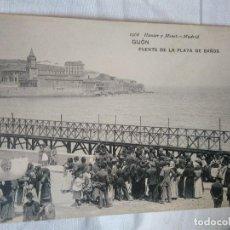 Postales: PUENTE DE LA PLAYA DE BAÑOS. GIJÓN. 1968 HAUSER Y MENET. SIN CIRCULAR.. Lote 81092864