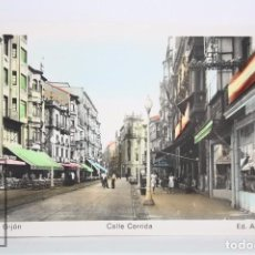 Cartes Postales: POSTAL FOTOGRÁFICA A COLOR - 17. GIJÓN, ASTURIAS. CALLE CORRIDA - ED. ARRIBAS - SIN CIRCULAR. Lote 82003552