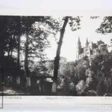 Postales: POSTAL FOTOGRÁFICA - 4. COVADONGA, ASTURIAS. LLEGADA AL SANTUARIO - L. ROISIN - CIRCULADA, 1954. Lote 82006692