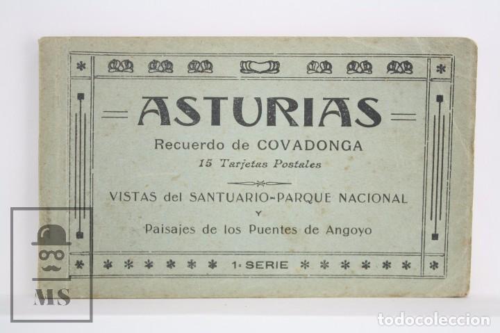 TACO DE 12 POSTALES - ASTURIAS. RECUERDO DE COVADONGA. 1ª SERIE - EL BARATO BAZAR, CANGAS DE ONÍS (Postales - España - Asturias Moderna (desde 1.940))