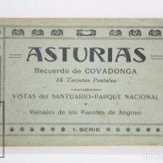 Postales: TACO DE 12 POSTALES - ASTURIAS. RECUERDO DE COVADONGA. 1ª SERIE - EL BARATO BAZAR, CANGAS DE ONÍS. Lote 82008928