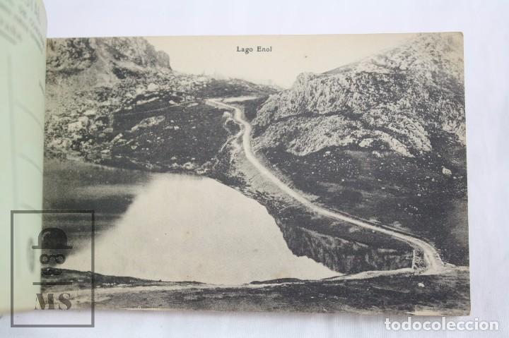 Postales: Taco de 12 Postales - Asturias. Recuerdo de Covadonga. 1ª Serie - El Barato Bazar, Cangas de Onís - Foto 3 - 82008928